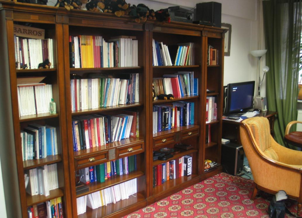 Библиотека в квартире.